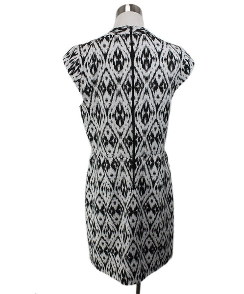 Theory Black White Polyester Viscose Dress 3