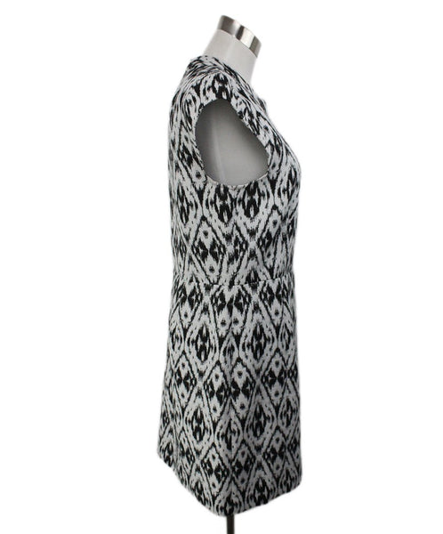 Theory Black White Polyester Viscose Dress 2