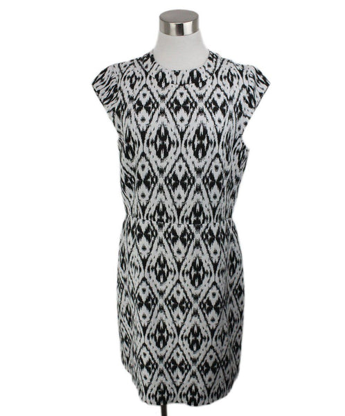 Theory Black White Polyester Viscose Dress 1