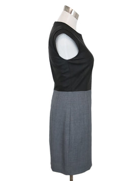 Theory Black Grey Cotton Polyester Wool Dress 2