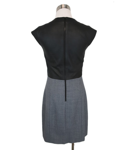 Theory Black Grey Cotton Polyester Wool Dress 3