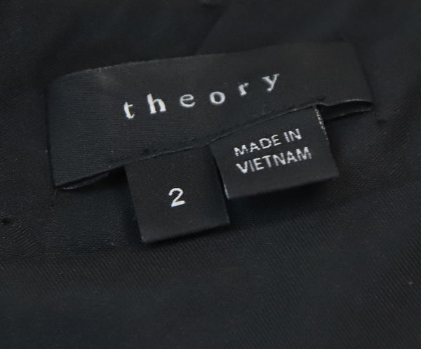 Theory Black Grey Cotton Polyester Wool Dress 4