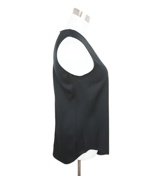 Theory Black Silk Sleeveless Blouse 2