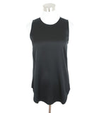 Theory Black Silk Sleeveless Blouse 1