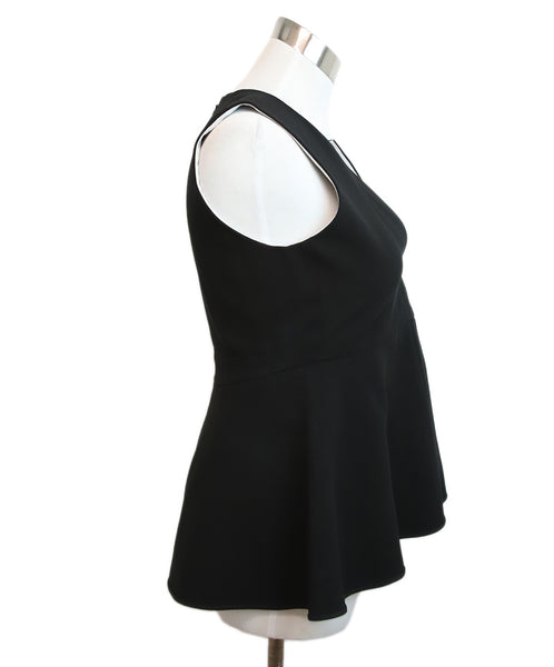 Theory Black Triacetate Polyester Top 2