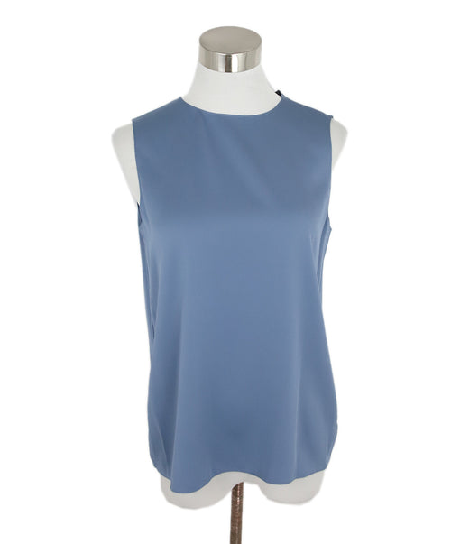 Theory Blue Silk Sleeveless Blouse 1