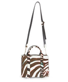 Theory Brown and White Calf Hair Handbag 3