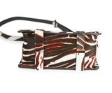 Theory Brown and White Calf Hair Handbag 4