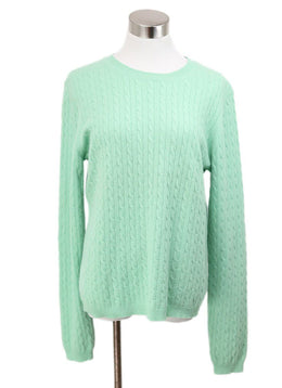 Theory Green Cashmere Sweater 1
