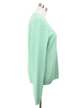 Theory Green Cashmere Sweater 2