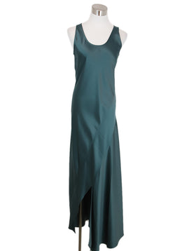 Theory Green Silk Dress 1