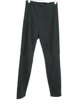 Theory Charcoal Suede Pants 1
