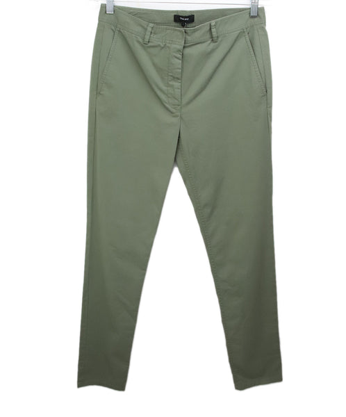 Theory Olive Green Pants 1