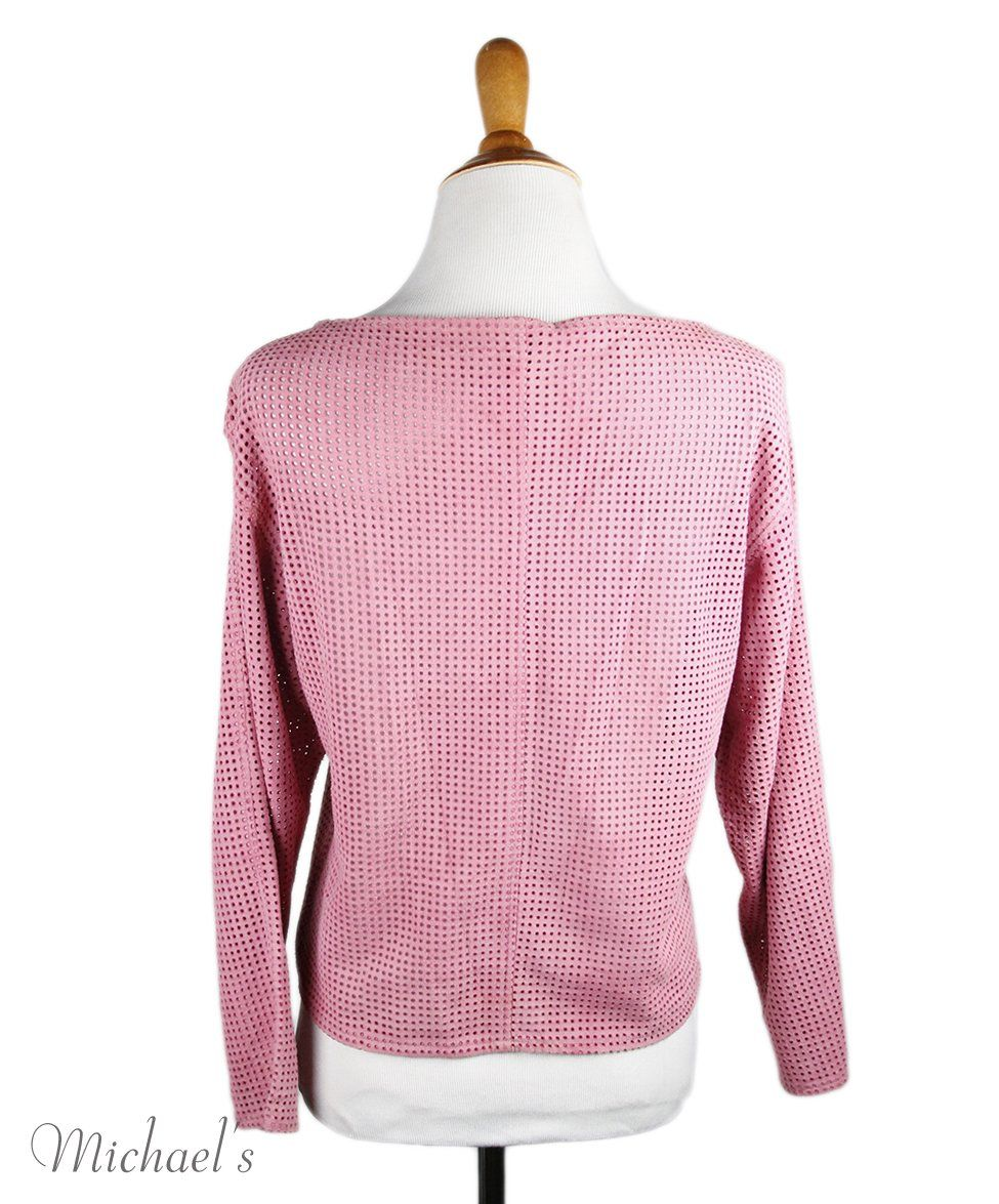 Theory Pink Suede Top Sz 4