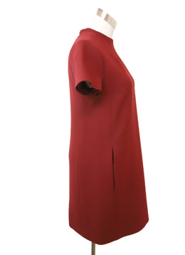 Theory Burgundy Viscose Dress 2