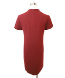 Theory Burgundy Viscose Dress 3