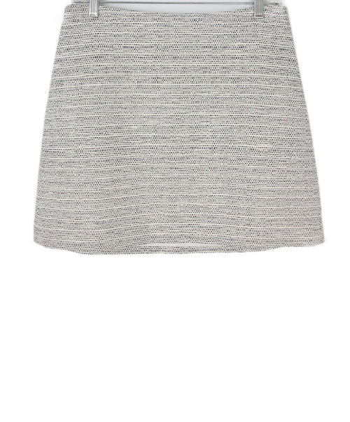 Theory Neutral Tweed (white, black) Mini Skirt 1