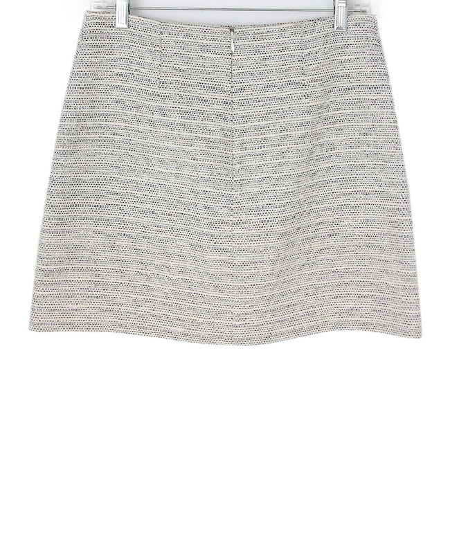 Theory Neutral Tweed (white, black) Mini Skirt 2