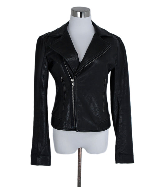 Theory Black Leather Jacket 1