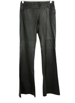 Theory Black Leather Pants 1