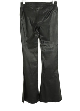 Theory Black Leather Pants 2