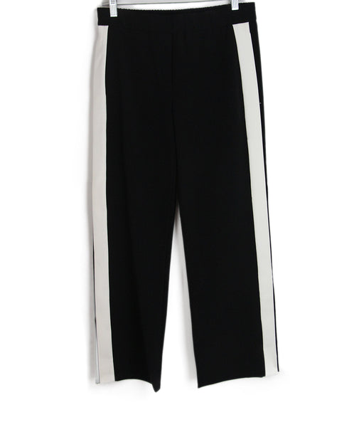 Theory black white pants 1