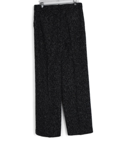 Theory Black White Wool Tweed Pants 1