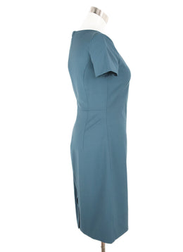 Theory Blue Peacock Wool Dress 2