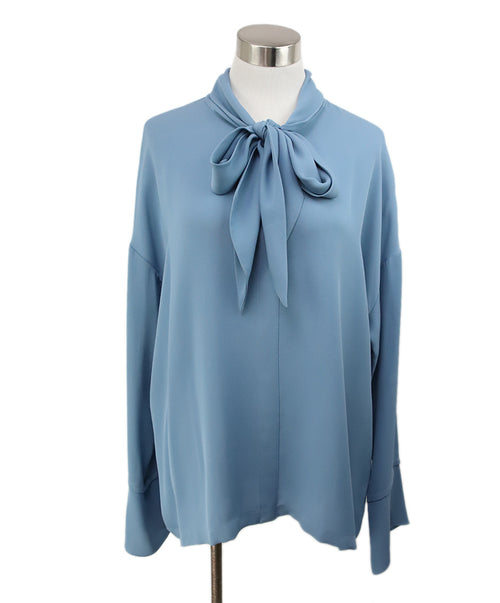 Theory Blue Silk Top 1