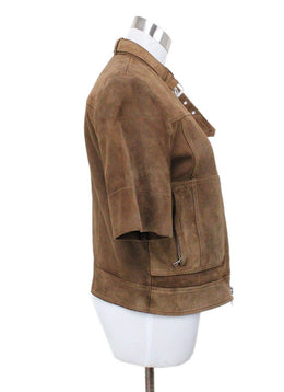 Theory Brown Suede Jacket 1