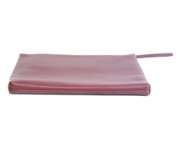 Theory Burgundy Leather Clutch 2