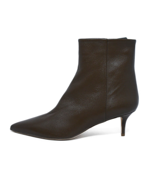 Theory Green Olive Leather Booties 2