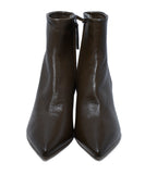 Theory Green Olive Leather Booties 4
