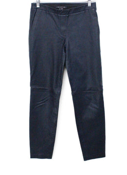 Theory Navy Leather Pants