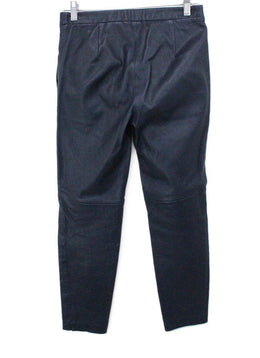 Theory Navy Leather Pants 1