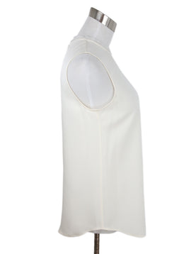 Theory White Ivory Silk Top 2