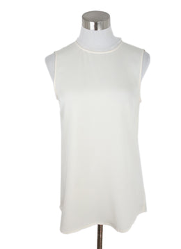 Theory White Ivory Silk Top 1