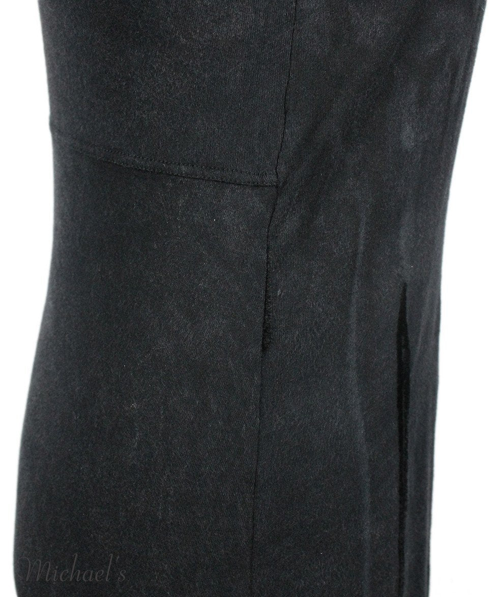 Theyskens Charcoal Cotton Velvet Trim Dress Sz 2 - Michael's Consignment NYC  - 4