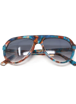 Thierry Lasry Brown Teal Frame Sunglasses 1
