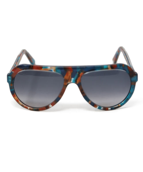 Thierry Lasry Brown Teal Frame Sunglasses 4