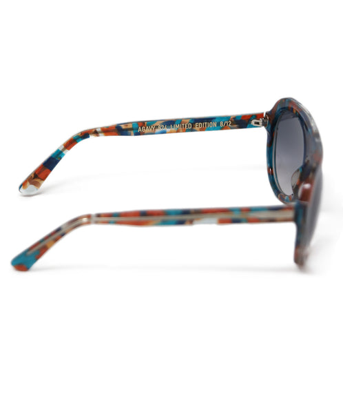 Thierry Lasry Brown Teal Frame Sunglasses 2