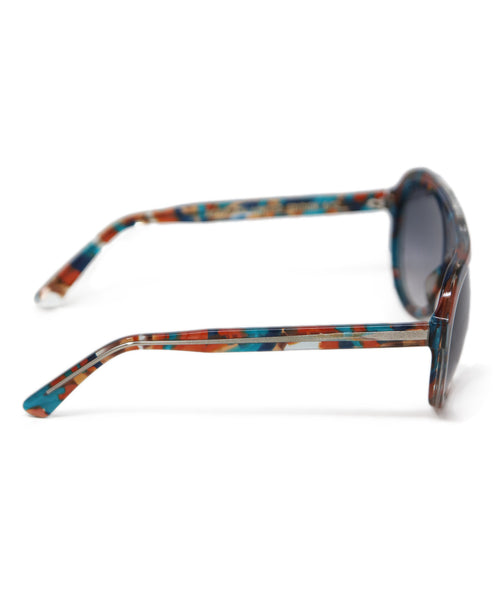 Thierry Lasry Brown Teal Frame Sunglasses 3
