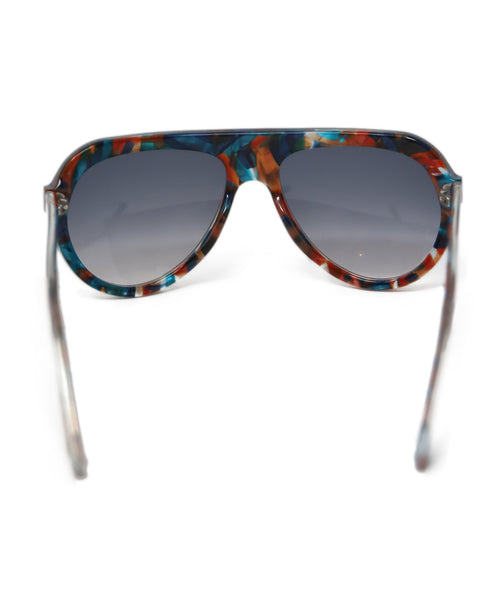 Thierry Lasry Brown Teal Frame Sunglasses 5
