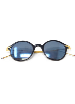 Thom Browne Navy Plastic Gold Trim Sunglasses 1