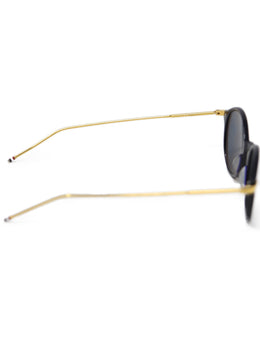 Thom Browne Navy Plastic Gold Trim Sunglasses 2