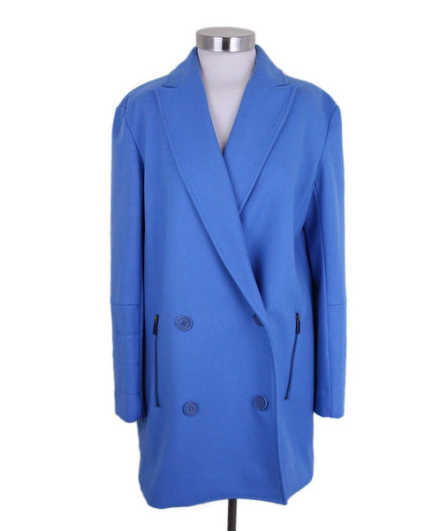 Tibi Blue Wool Coat 1
