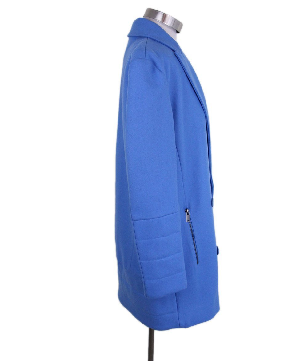 Tibi Blue Wool Coat 2