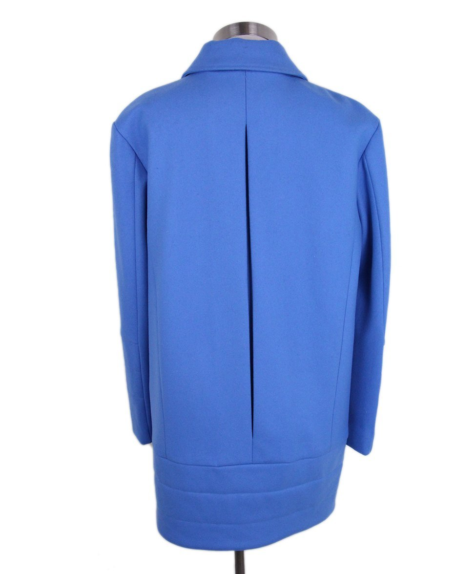 Tibi Blue Wool Coat 3