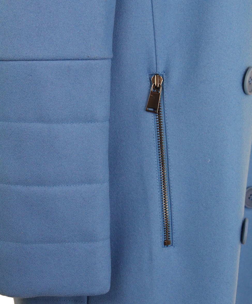 Tibi Blue Wool Coat 7