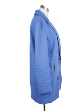 Tibi Blue Wool Peacoat Coat 2